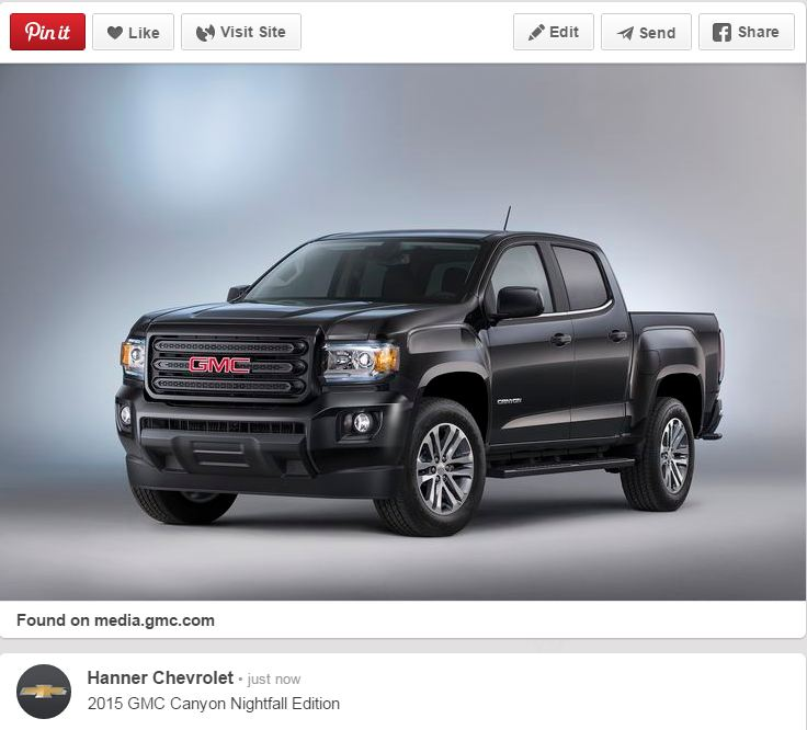 GMC Canyon Nightfall Edition